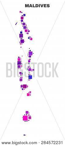 Mosaic Maldives Map Vector & Photo (Free Trial)   Bigstock