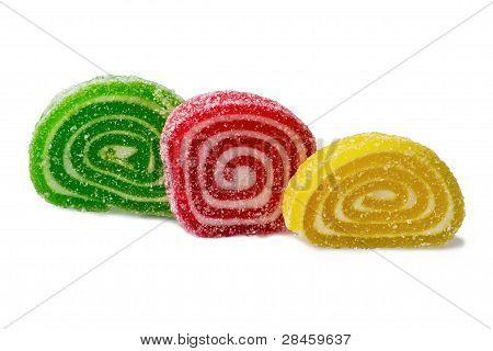 Pieces Of Multicolored Marmalade