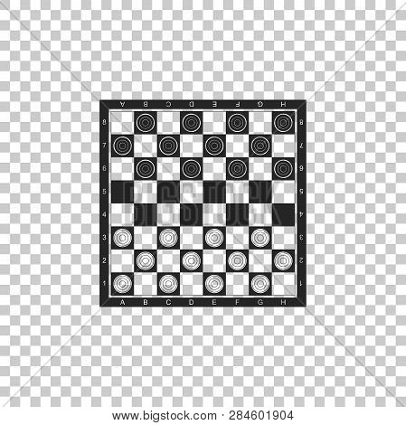 Board Game Of Checkers Icon Isolated On Transparent Background. Ancient Intellectual Board Game. Che