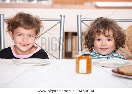 Children waiting for their pancakes