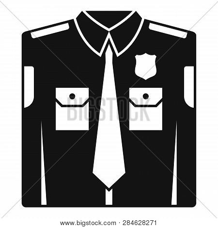 Police Uniform Icon. Simple Illustration Of Police Uniform Vector Icon For Web Design Isolated On Wh