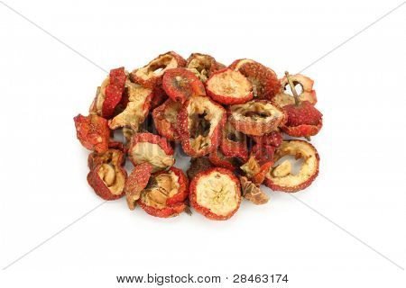 dried chinese hawthorn fruits, traditional chinese herbal medicine