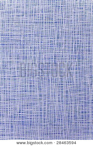 Thin White Strips Closely Spaced On A Bright Blue Background. Texture, Background