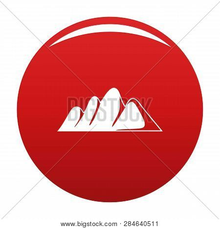 Europe Mountain Icon. Simple Illustration Of Europe Mountain Vector Icon For Any Design Red