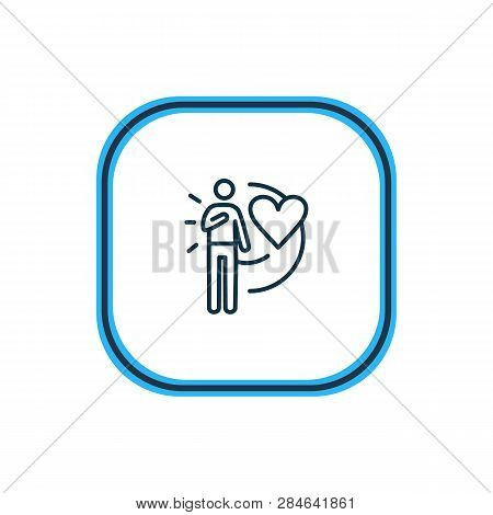 Vector Illustration Of Loyalty Icon Line. Beautiful Emoticon Element Also Can Be Used As Devotion Ic