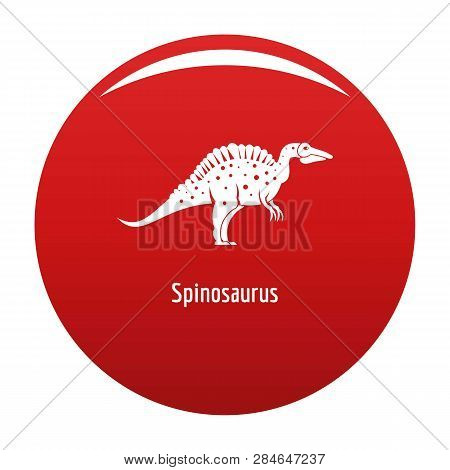 Spinosaurus Icon. Simple Illustration Of Spinosaurus Vector Icon For Any Design Red