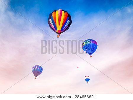 Grouping Of  Hot Air Balloons