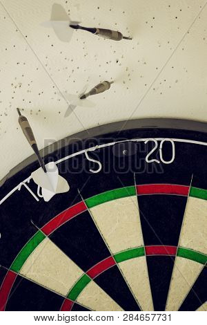Worst Darts Player In The World Thrown All The Darts In The Wall