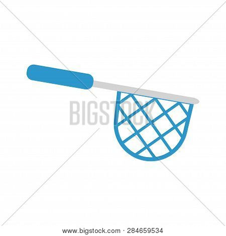 Illustration Of A Fishing Net On White Background. Vector Illustration. Eps 10.