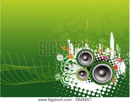 Music Wave Background