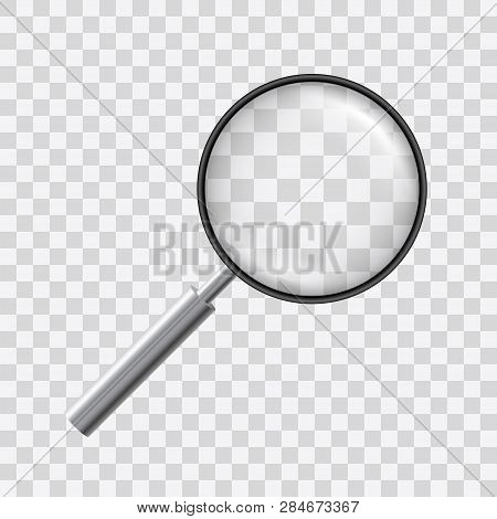 Beautiful Vector Of A Loupe With Magnyfying Glass On Transparent Background.