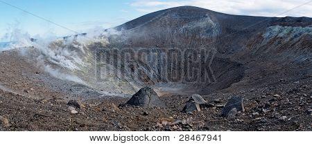 Crater of Vulcano island  volcano in Italy