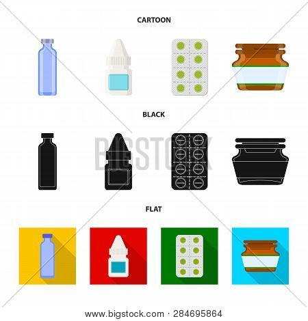 Vector Illustration Of Retail And Healthcare Icon. Set Of Retail And Wellness Stock Vector Illustrat