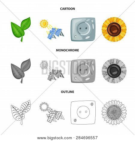 Vector Illustration Of Innovation And Technology  Symbol. Collection Of Innovation And Nature  Stock