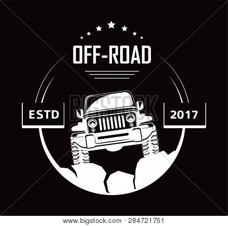 Off-road 4x4 Extreme Car Club Logo Templates. Vector Symbol