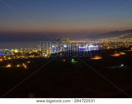 City Skyline, City Panorama. Urban Buildings And City Center. Aerial View Of The City.