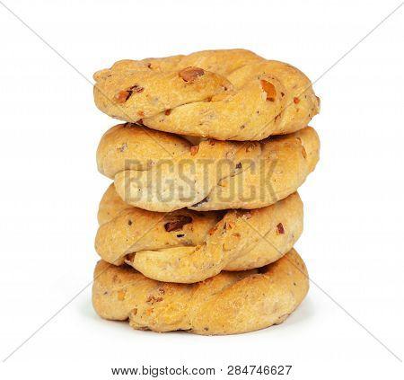 Neapolitan Cookies Called Taralli.