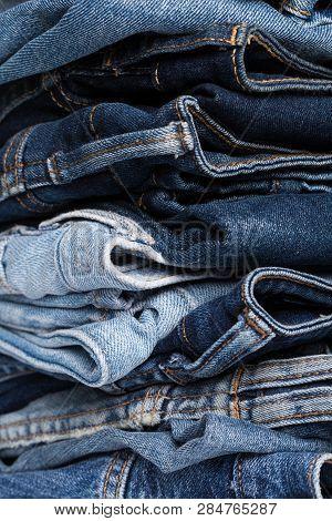 Denim. Jeans Texture. Jeans Background. Denim Jeans Texture Or Denim Jeans Background