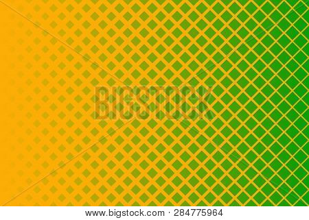 Horizontal Gradient Halftone Background With Square. Pop Art Style. Design Elements For Presentation