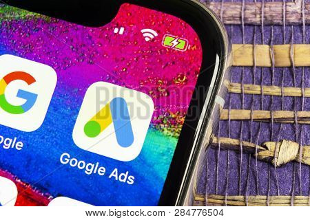 Sankt-petersburg, Russia, February 17, 2019: Google Ads Adwords Application Icon On Apple Iphone X S