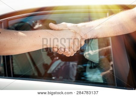 Handshake, Deal, Greeting, Conclusion Of A Business Contract.