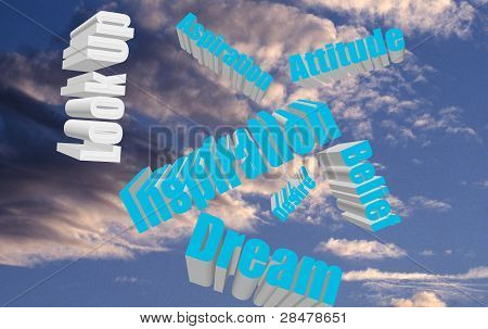 Positive Attitude Words in Sky
