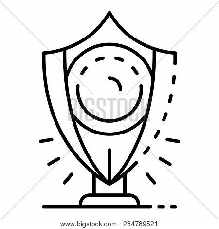 Regal Shield Icon. Outline Regal Shield Vector Icon For Web Design Isolated On White Background