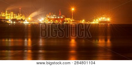 Dartmouth oil refinery and terminal facility near Halifax, Nova Scotia, Canada poster
