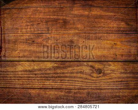 Distressed Wood Pattern Background - Brown Grunge Wood Backdrop