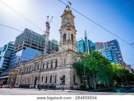 30th December 2018, Adelaide South Australia : Street View Of The Former General Post Office Buildin