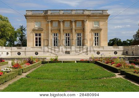 Le Petit Trianon in the park of Versailles Palace poster
