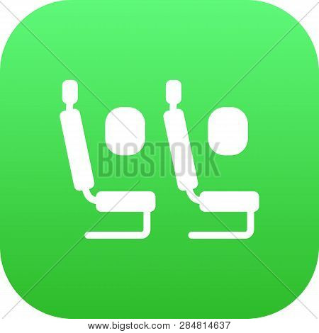 Isolated Economy Class Icon Symbol On Clean Background.  Tourism  Element In Trendy Style.