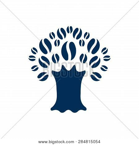 Isolated Tree Icon Symbol On Clean Background.  Timber Element In Trendy Style.