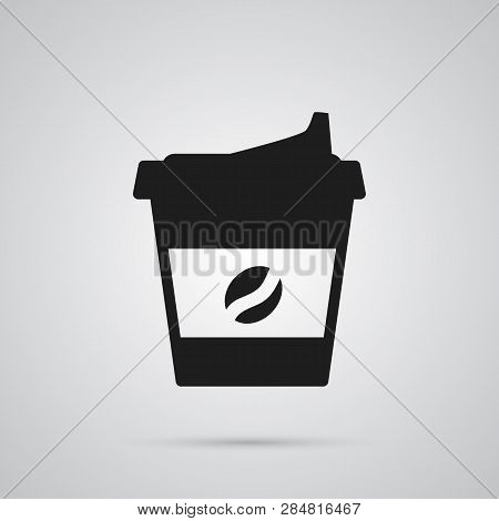 Isolated Coffee Icon Symbol On Clean Background. Vector Cappuccino Element In Trendy Style.