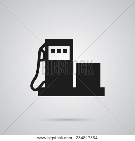 Isolated Gas Station Icon Symbol On Clean Background.  Petrol Element In Trendy Style.