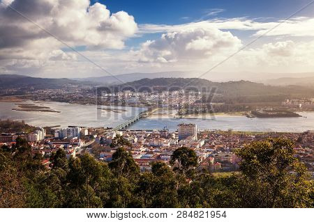 Viana Do Castelo, View Of The City From A Height, Beautiful City Landscape. Travel To Portugal