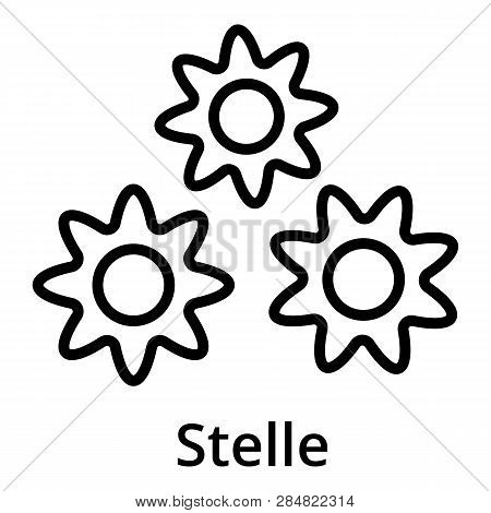 Stelle Icon. Outline Stelle Vector Icon For Web Design Isolated On White Background