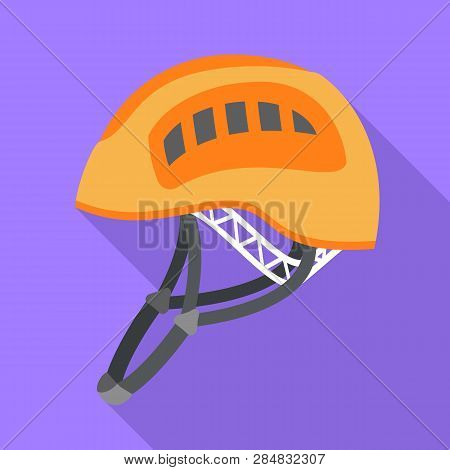 Helmet Hiking Icon. Flat Illustration Of Helmet Hiking Vector Icon For Web Design