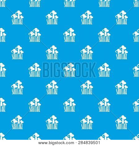 Shiitake Pattern Vector Seamless Blue Repeat For Any Use