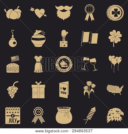 Almanac Icons Set. Simple Set Of 25 Almanac Vector Icons For Web For Any Design