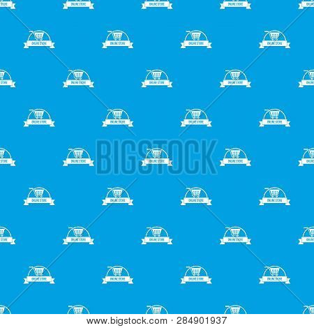 E Business Pattern Vector Seamless Blue Repeat For Any Use
