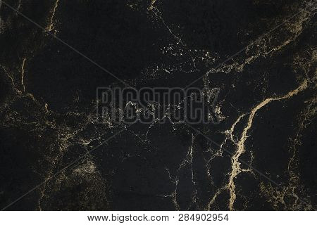 Black Texture With Gold. Luxury Texture. Black Gold Background.