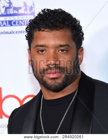 LOS ANGELES - FEB 17:  Russell Wilson arrives for the Hollywood Beauty Awards 2019 on February 17, 2019 in Hollywood, CA