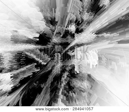 Abstract 3d Grey Rendered Illustration Background For Design