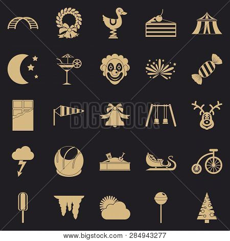 Courtyard Icons Set. Simple Set Of 25 Courtyard Vector Icons For Web For Any Design