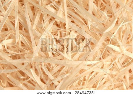 Close-up Of Background Made From Wood Chips