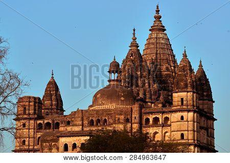 Orchha, Madhya Pradesh, India - November 30, 2018: Jahangir Mahal, Citadel Of Jahangir, Orchha Palac
