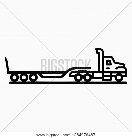 Truck With Trawl Trailer, Transportation Of Oversized Cargo