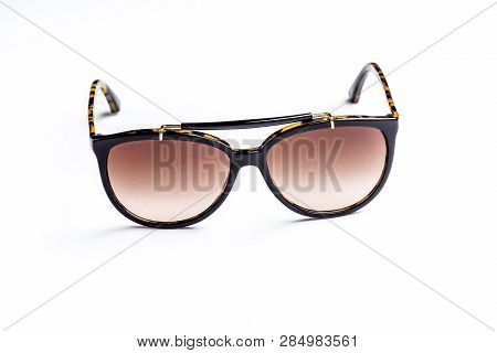 Womens Sunglasses Isolated Against A White Background