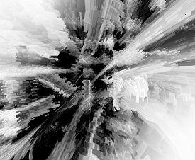Abstract 3d Grey Rendered Illustration Background For Design
